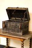 Antique medieval wooden chest Stock Photo