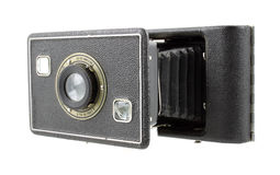 Antique medium format film folding camera Royalty Free Stock Photos
