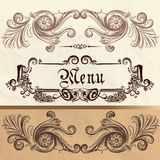 Antique menu design on a paper Royalty Free Stock Photo