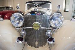 Antique Mercedes Benz car with two horns Stock Photos