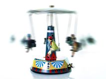 Antique merry go round. Old tin toy;merry go round Royalty Free Stock Photos