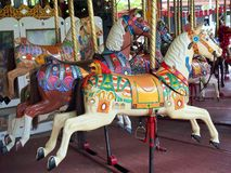 Antique Merry Go Round Royalty Free Stock Images