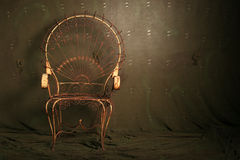 Antique metal chair Stock Images
