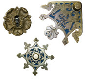 Antique metal decorations Royalty Free Stock Images