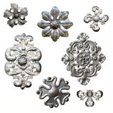 Antique metal decorations Stock Photos