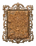 Antique metal frame Stock Images