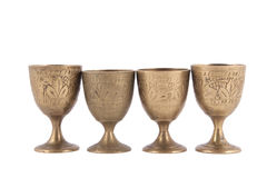 Antique metal glass Royalty Free Stock Images