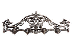 Antique metal hanger. Royalty Free Stock Images
