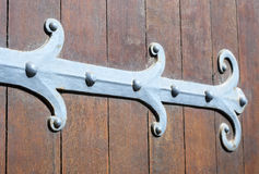 Antique metal hinge Stock Photos