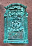 Antique metal mail box Stock Image