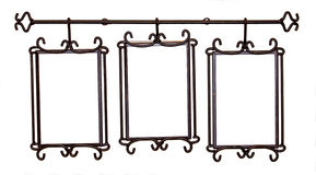 Antique metal picture frame Stock Images