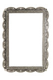 Antique metal picture and photo frame. With space for text Royalty Free Stock Photo