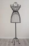 Antique metallic dressform Stock Photo