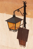 Antique metallic street lamp in Albarracin. Spain Stock Photos