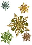 Antique metalwork as stars, medallions Stock Images