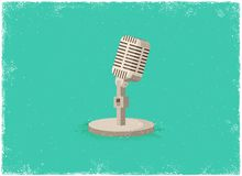 Antique microphone Stock Photos