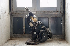 Antique microscope Stock Image