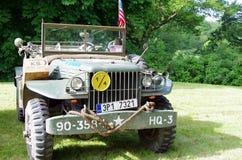 Antique military car Stock Photo