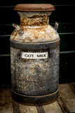 Antique milk can Royalty Free Stock Images