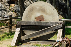 Antique millstone Royalty Free Stock Image