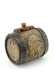 Antique mini wine keg Stock Images