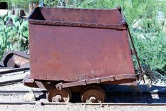 Antique mining equipment Royalty Free Stock Image