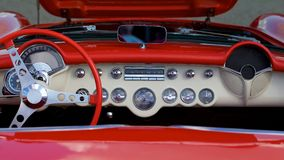 Antique Mint Condition Car Interior Royalty Free Stock Image