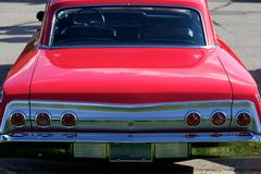 Antique Mint Condition Red Car Royalty Free Stock Images