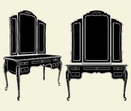 Antique Mirror Commode Vector 05 Stock Photography