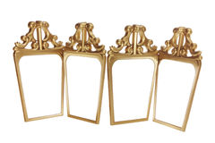 Antique Mirrors. On White Background stock images