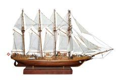 Antique Model Sailing Ship Stock Images