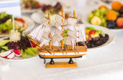 Antique Model Sailing Ship Stock Photos