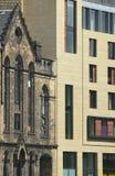 Antique and modern facades buildings in Edinburgh. Scotland. UK Stock Photos
