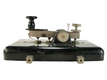 Antique morse key Stock Photos