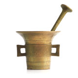 Antique mortar stock photo