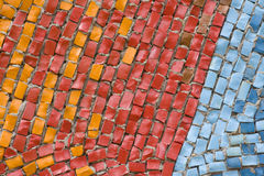 Antique mosaic close up Royalty Free Stock Images