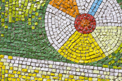 Antique mosaic close up Royalty Free Stock Photo