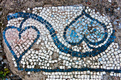 Antique mosaic Stock Image