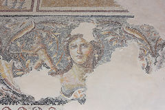 Antique mosaic, national park Zippori, Galilee, Israel Stock Image