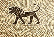 Antique mosaic pavement Stock Image