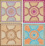 Antique mosaics Royalty Free Stock Images