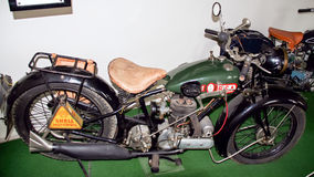 Antique motorcycle brand BSA 500 S29, 493 ccm, 1929, motorcycle museum Royalty Free Stock Images