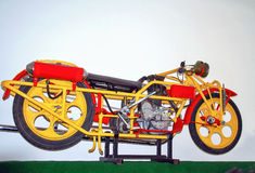 Antique motorcycle brand Čechie /Bohmerland/ 600 ccm, 1927, motorcycle museum Stock Photo