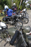 Antique motorcycle Stock Photos