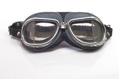 Antique motorcycle glasses Stock Photo