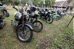 Antique motorcycles Stock Photo