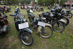 Antique motorcycles Stock Photography