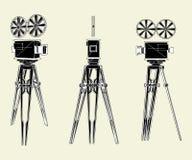 Antique Movie Stand Camera Vector 01. Antique Movie Stand Camera Isolated Illustration Vector Stock Photo