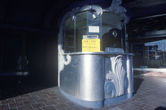 An antique movie theatre ticket booth, Taft, CA Royalty Free Stock Photos