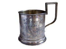 Antique mug or stein Royalty Free Stock Photo